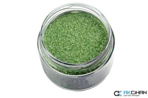 Çağla Yeşili Cam Granül