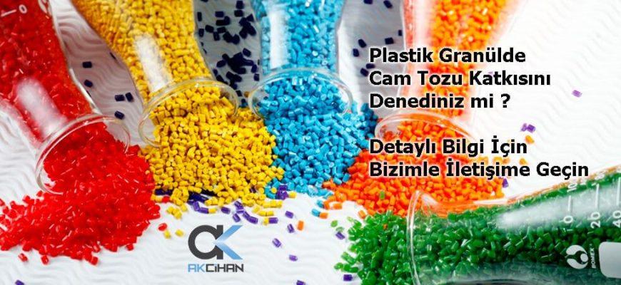 plastikte cam tozu